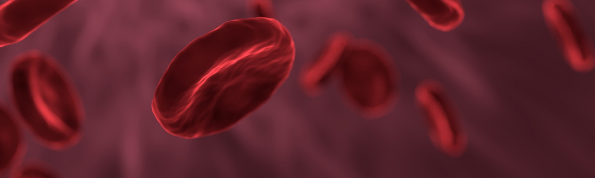 Computer generated image of red blood cells