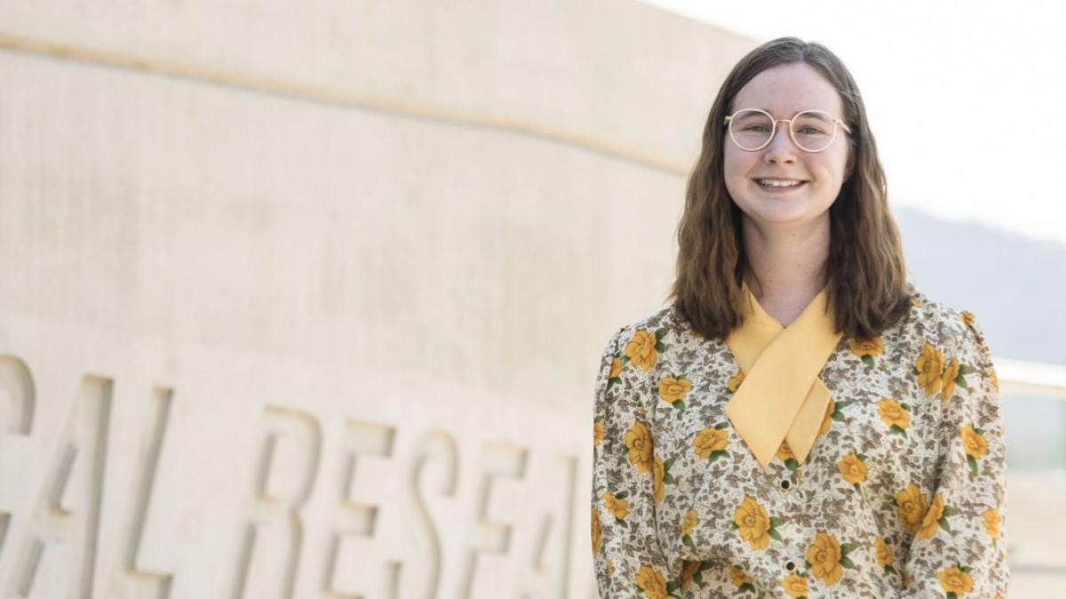 Rhodes Scholar, Emily Rowland, smiling