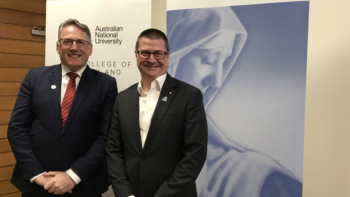 Professor Russell Gruen, Dean ANU College of Health and Medicine and Martin Bowles, National CEO, Calvary Health Care.