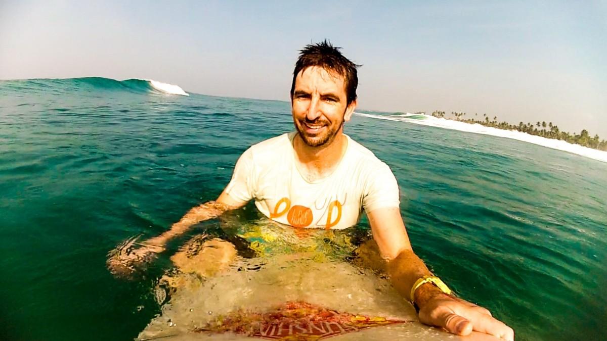 Man on surfboard