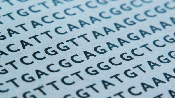DNA sequence printed on paper